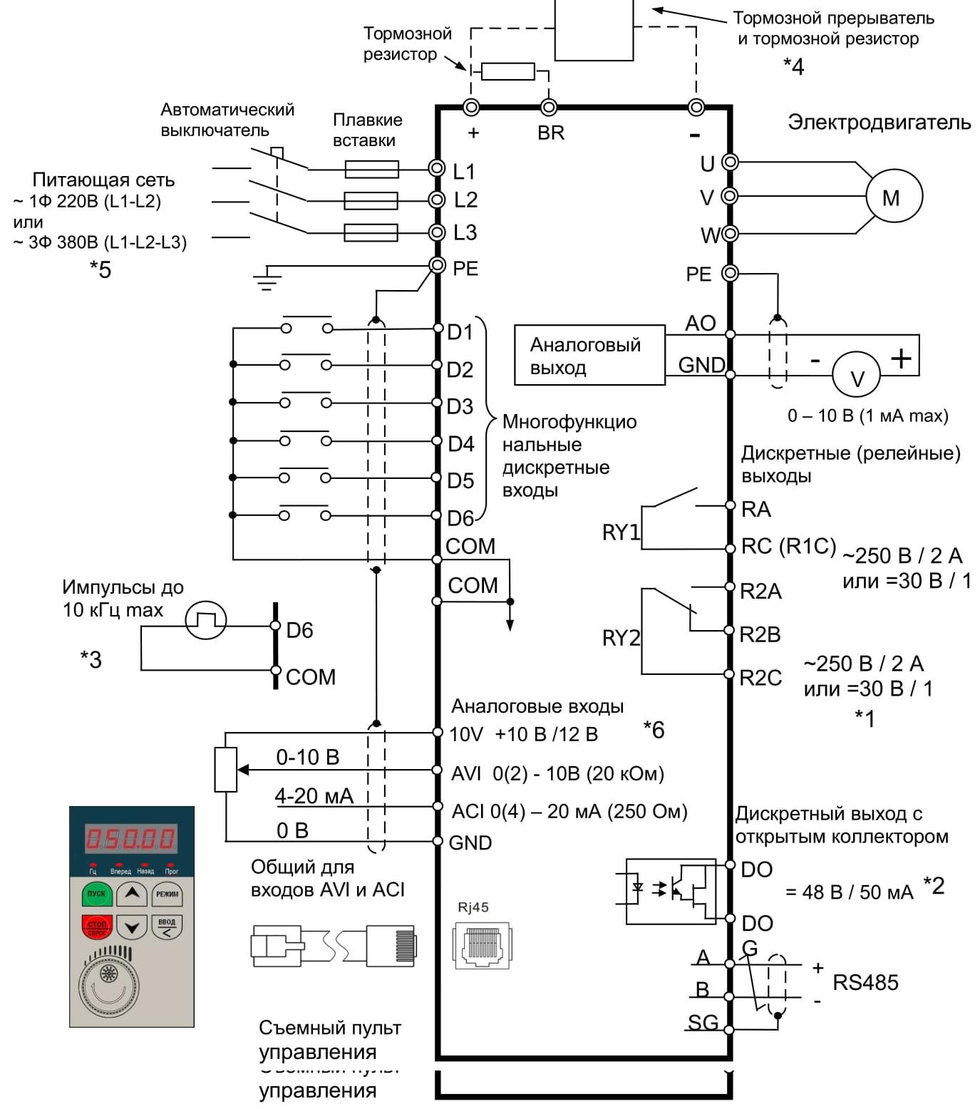 Схемы подключения термосопротивлений