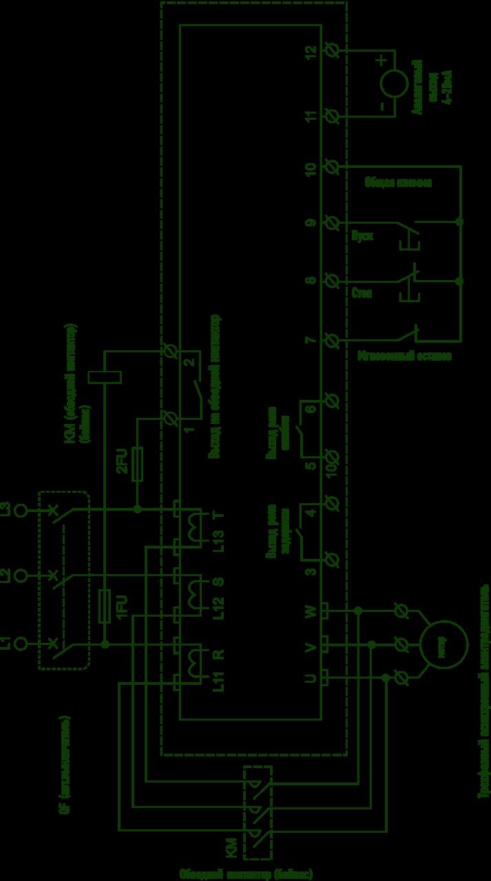 fr-f700 схема подключения